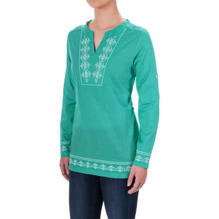 Craghoppers Clemence Tunic Shirt - Long Sleeve (For Women) in Spearmint - Closeouts