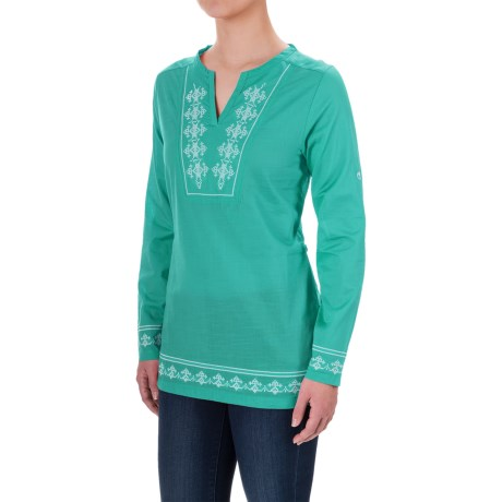Craghoppers Clemence Tunic Shirt - Long Sleeve (For Women) in Spearmint