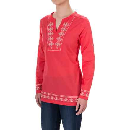 Craghoppers Clemence Tunic Shirt - Long Sleeve (For Women) in Watermelon - Closeouts