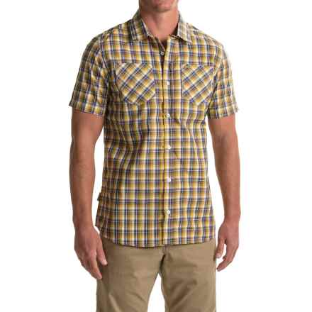 Craghoppers Corin Shirt - UPF 20+, Short Sleeve (For Men) in Dusk Blue Check - Closeouts