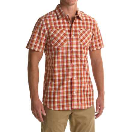 Craghoppers Corin Shirt - UPF 20+, Short Sleeve (For Men) in Rust Check - Closeouts