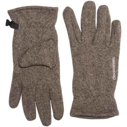 Craghoppers Danewood Gloves (For Men and Women) in Dark Mushroom Marl - Closeouts