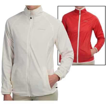 Craghoppers Dawa Fleece Jacket - Reversible (For Women) in Sea Salt/Rose Pink - Closeouts