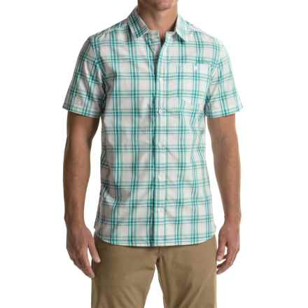 Craghoppers Edgard Shirt - UPF 30+, Short Sleeve (For Men) in Bright Teal Check - Closeouts