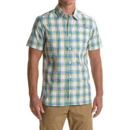 Craghoppers Edgard Shirt - UPF 30+, Short Sleeve (For Men) in Deep China Blue Check - Closeouts