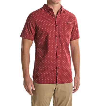 Craghoppers Edmond Shirt - Cotton-Linen, Short Sleeve (For Men) in Brick Red Dobby - Closeouts