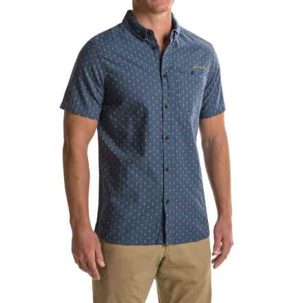 Craghoppers Edmond Shirt - Cotton-Linen, Short Sleeve (For Men) in Dusk Blue Dobby - Closeouts
