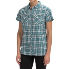 Craghoppers Ellema Shirt - UPF 20+, Short Sleeve (For Women) in Lagoon Combo - Closeouts