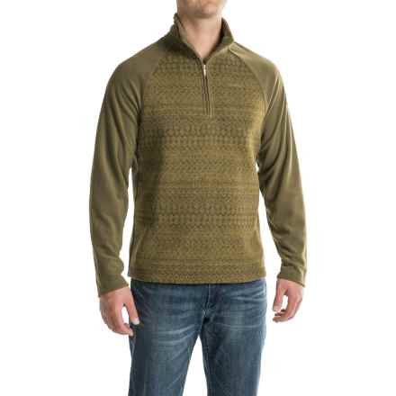 Craghoppers Elliston Fleece Shirt - Zip Neck, Long Sleeve (For Men) in Dark Moss - Closeouts