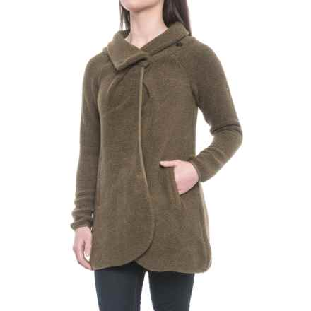 Craghoppers Erica Cardigan Sweater (For Women) in Dark Moss Marl - Closeouts