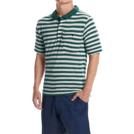 Craghoppers Fraser Polo Shirt - Short Sleeve (For Men) in Lake Green Calico - Closeouts