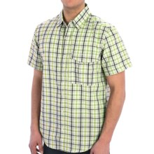Craghoppers Grady Shirt - Short Sleeve (For Men) in Bright Lime - Closeouts
