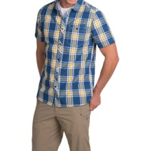 Craghoppers Hassan Plaid Shirt - UPF 30+, Short Sleeve (For Men) in Denim Blue Combo - Closeouts