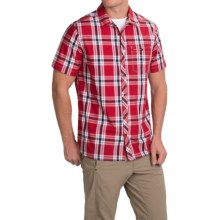 Craghoppers Hassan Plaid Shirt - UPF 30+, Short Sleeve (For Men) in Red Combo - Closeouts