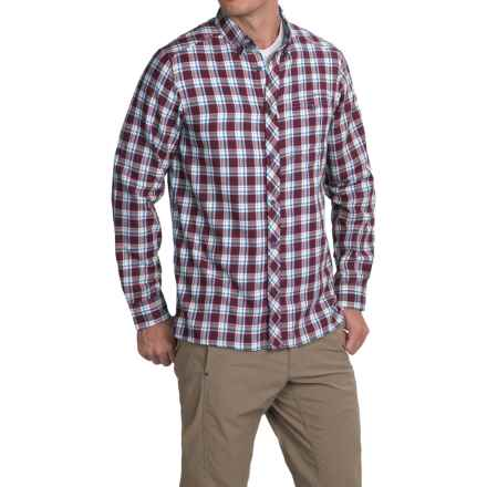Craghoppers Humbleton Check Shirt - Roll-Up Long Sleeve (For Men) in Burgundy Combo - Closeouts