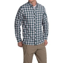 Craghoppers Humbleton Check Shirt - Roll-Up Long Sleeve (For Men) in Petrol Combo - Closeouts
