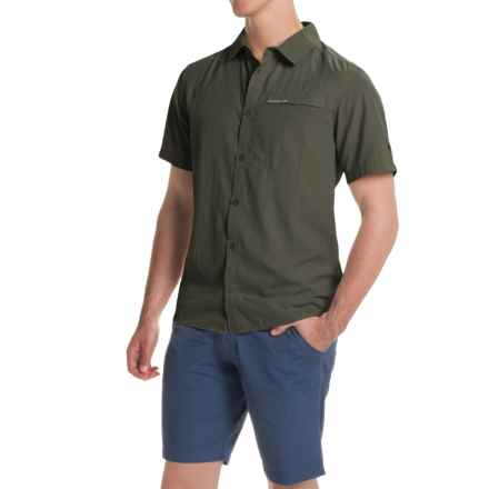 Craghoppers Insect Shield® Belay Shirt - UPF 40+, Short Sleeve (For Men) in Dark Khaki - Closeouts