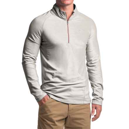 Craghoppers Insect Shield® Felix - Zip Neck, Long Sleeve (For Men) in Light Grey Marl - Closeouts