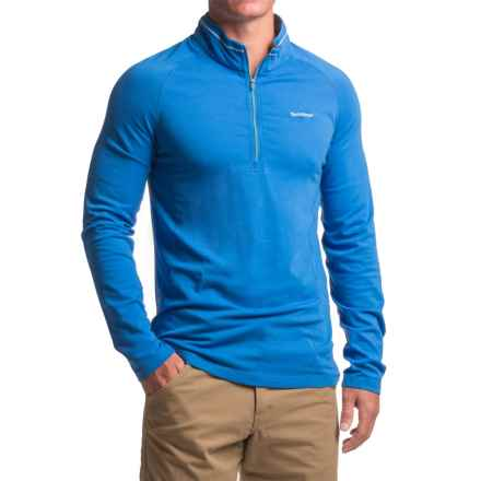 Craghoppers Insect Shield® Felix - Zip Neck, Long Sleeve (For Men) in Sport Blue - Closeouts
