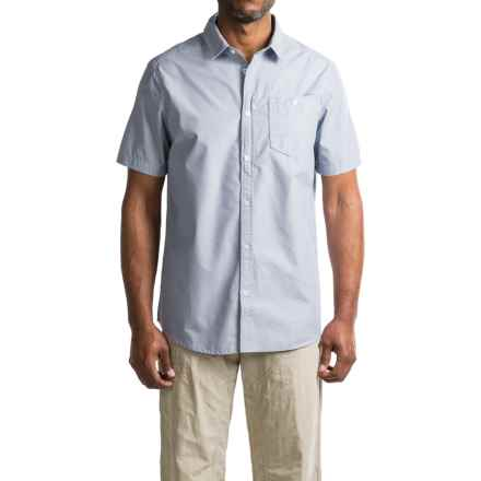 Craghoppers Insect Shield® Henri Shirt - UPF 50+, Button Front, Short Sleeve (For Men) in Dusk Blue - Closeouts