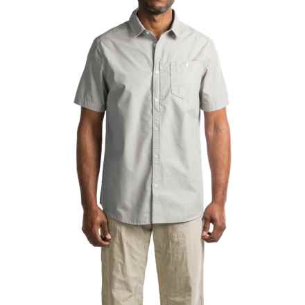 Craghoppers Insect Shield® Henri Shirt - UPF 50+, Button Front, Short Sleeve (For Men) in Light Grey - Closeouts