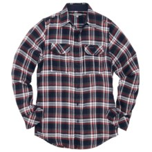 Craghoppers Jakobe Check Flannel Shirt - Long Sleeve (For Men) in Dark Navy - Closeouts