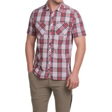 Craghoppers Kalifa Shirt - UPF 30+, Short Sleeve (For Men) in Red Combo - Closeouts