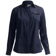 Craghoppers Kiwi Button-Front Shirt - UPF 40+, Long Roll Sleeve (For Women) in Midnight Blue - Closeouts