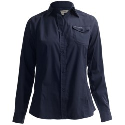 Craghoppers Kiwi Button-Front Shirt - UPF 40+, Long Roll Sleeve (For Women) in Midnight Blue