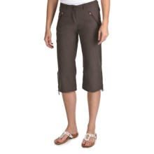 Craghoppers Kiwi Pro Stretch Crop Pants - UPF 40 (For Women) in Cocoa - Closeouts