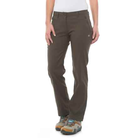 Craghoppers Kiwi Pro Stretch Pants - UPF 40+ (For Women) in Mid Khaki - Closeouts