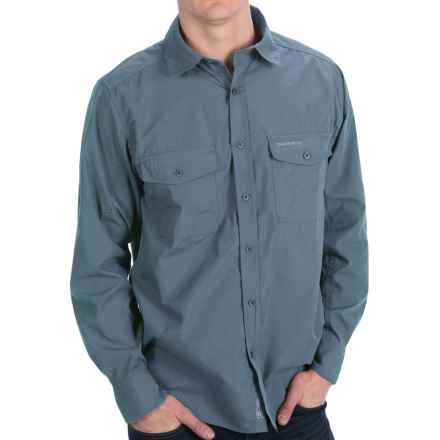Craghoppers Kiwi Shirt - UPF 40+, Long Roll-Up Sleeve (For Men) in Provincial Blue - Closeouts