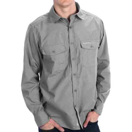 Craghoppers Kiwi Shirt - UPF 40+, Long Roll-Up Sleeve (For Men) in Sodium - Closeouts