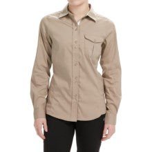 Craghoppers Kiwi Shirt - UPF 40+, Long Sleeve (For Women) in Almond - Closeouts