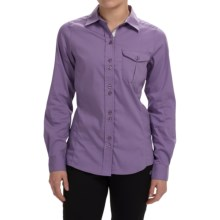 Craghoppers Kiwi Shirt - UPF 40+, Long Sleeve (For Women) in Velvet Plum - Closeouts