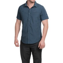 Craghoppers Kiwi Trek Shirt - UPF 40+, Short Sleeve (For Men) in Faded Indigo - Closeouts