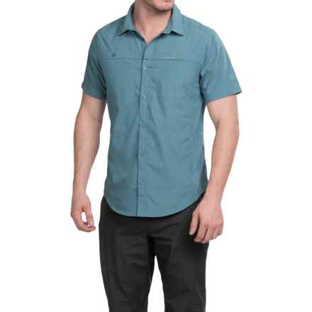 Craghoppers Kiwi Trek Shirt - UPF 40+, Short Sleeve (For Men) in Provincial Blue - Closeouts