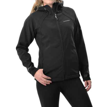 Craghoppers Lena Hooded Soft Shell Jacket (For Women) in Black/Sea Salt - Closeouts