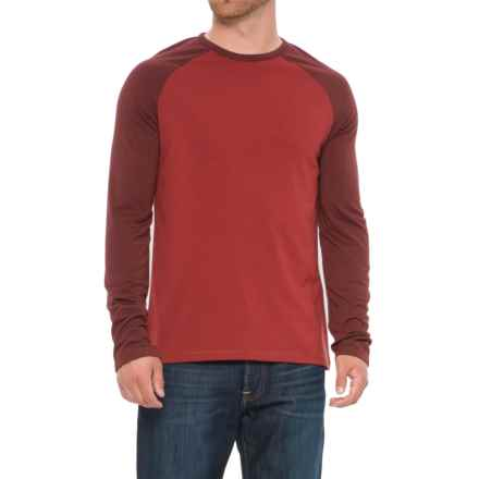 Craghoppers Loki T-Shirt - Crew Neck, Long Sleeve (For Men) in Redwood - Closeouts