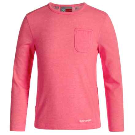 Craghoppers Louise NosiLife® T-Shirt - Long Sleeve (For Little and Big Girls) in Electric Pink Marl - Closeouts