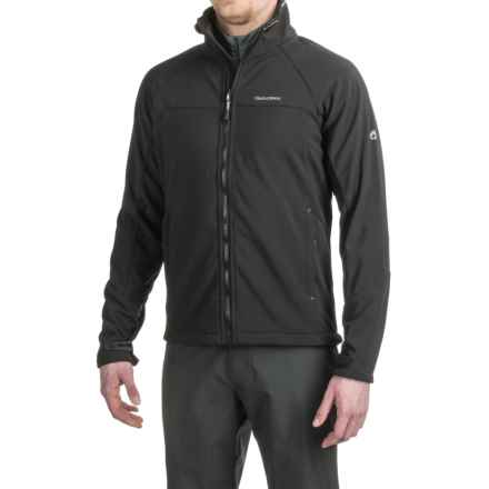 Craghoppers Luka Soft Shell Jacket (For Men) in Black/Black - Closeouts