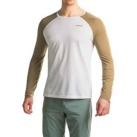 Craghoppers NatGeo Insect Shield® Goddard T-Shirt - Crew Neck, Long Sleeve (For Men) in Optimum White/Light Olive Marl - Closeouts