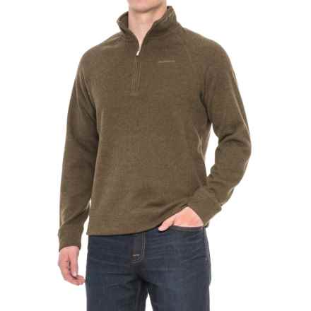 Craghoppers Norton Fleece Sweater - Zip Neck (For Men) in Dark Moss Marl - Closeouts