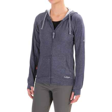Craghoppers NosiLife Adanya Hoodie - UPF 40+, Insect Shield® (For Women) in Soft Navy Marl - Closeouts