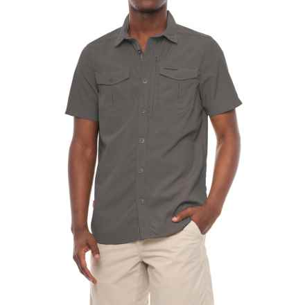 Craghoppers NosiLife® Adventure Shirt - UPF 40, Short Sleeve (For Men) in Black Pepper - Closeouts