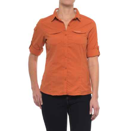 Craghoppers NosiLife® Adventure Shirt - UPF 50+, Long Sleeve (For Women) in Desert Ornge - Closeouts