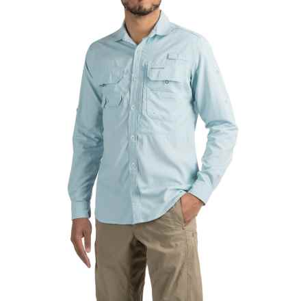 Craghoppers NosiLife® Angler Shirt - UPF 40+, Long Sleeve (For Men) in Blue Mist - Closeouts