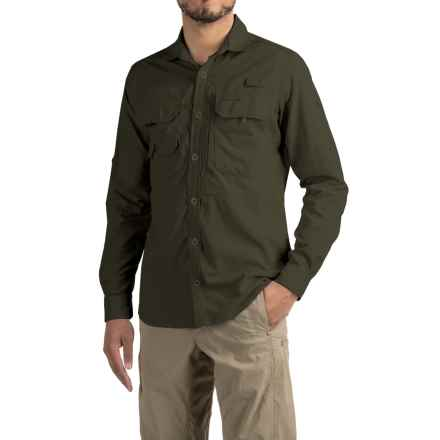 Craghoppers NosiLife® Angler Shirt - UPF 40+, Long Sleeve (For Men) in Dark Khaki - Closeouts