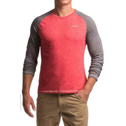 Craghoppers NosiLife® Bayame Shirt - UPF 40+, Long Sleeve (For Men) in Red Marl/ Black Pepper Marl - Closeouts