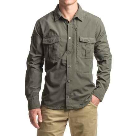 Craghoppers NosiLife® Button-Down Shirt - UPF 40+, Long Sleeve (For Men) in Dark Khaki - Closeouts